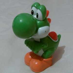 Mc Donalds 2014 Nintendo Mario World Yoshi piull back toy McDonalds Happy Meal